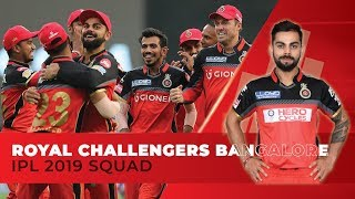 IPL 2019- Royal Challengers Bangalore (RCB) full squad | Kohli to lead | AB de in middle-order