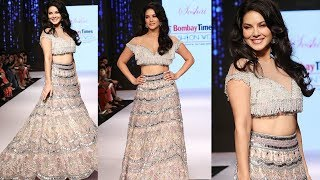Sunny Leone Stuns Everyone ???? As She Walks The Ramp At Bombay Times Fashion Week Spring Summer 2019