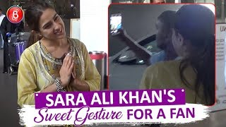 Sara Ali Khans SWEET Gesture For A Fan Wanted To Click Selfie