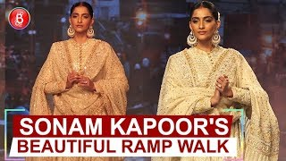 Sonam Kapoor Walks On Ramp At Bombay Times Fashion Week 2019