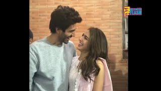 Cute Couple Sara Ali Khan & Kartik Aaryan - Imatiyaz Ali' S Film Wrap Up Party