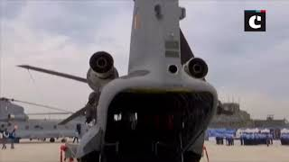 Induction ceremony of Chinook helicopters at Air Force Station 12 wing in Chandigarh