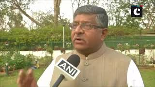 RS Prasad takes potshot at Congress over Rahul Gandhi's minimum income announcement