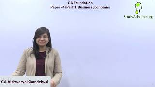 Economics for CA Foundation by CA Aishwarya Khandelwal