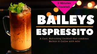 Baileys Espressito Cocktail | Two Minutes Cocktail | Cocktail With Baileys | Dada Bartender |