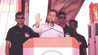 Congress President Rahul Gandhi addresses Jan Sankalp Rally in Suratgarh, Rajasthan