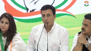AICC Press Briefing by Randeep S. Surjewala, Milind Deora and Sanjay Nirupam on SMART Cities