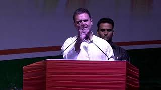 Congress President Rahul Gandhi addresses the OBC National Convention at IG Stadium, New Delhi