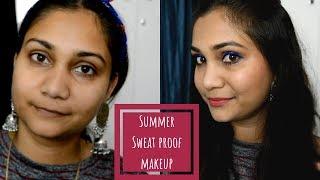 Summer Sweat Proof Makeup using affordable products | Nidhi Katiyar