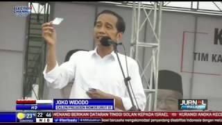 Kampanye di Banjarmasin, Jokowi Pamerkan Kartu Pra Kerja