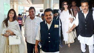 Urmila Matondkar And Sanjay Nirupam Snapped At Mumbai Airport
