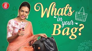 Whats In Your Bag Bidita Bags CRAZY Personal Possessions Revealed