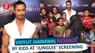 Vidyut Jammwal MOBBED By Kids At Junglee Screening