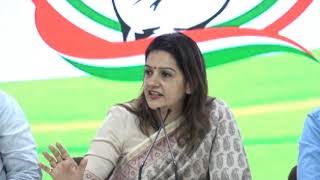 Priyanka Chaturvedi addresses media at Congress HQ