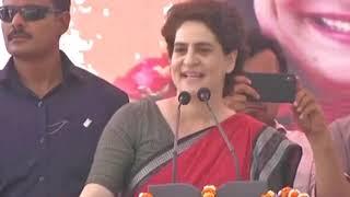 Smt. Priyanka Gandhi Vadra addresses Rally in Ayodhya, Uttar Pradesh