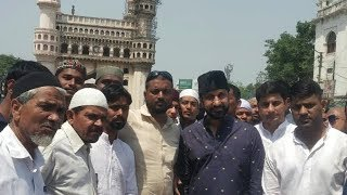 Feroz Khan At Mecca Masjid For Namaz E Jumma | Try To Win Muslim Hearts | @SACH NEWS |