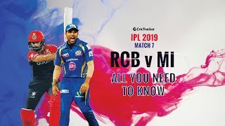 IPL 2019- Match 7, Royal Challengers Banglore (RCB) vs Mumbai Indians (MI)- All You Need To Know