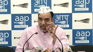 AAP Delhi Convenor Gopal Rai Exposed Delhi BJP President's Lies on Statehood for Delhi with Evidence