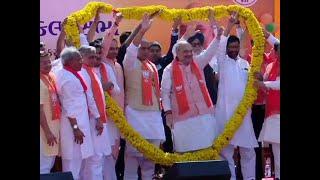 2019 Lok Sabha Polls- NDA allies join Amit Shah in Gandhinagar at his nomination rally
