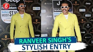 Ranveer Singhs STYLISH Entry At HT Most Stylish Awards 2019