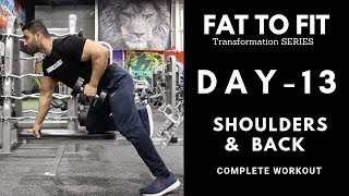 Back & Shoulders Beginners Workout! Day-13 (Hindi / Punjabi)