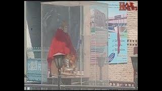 महाराजा अग्रसेन की प्रतिमा की कुछ उपद्रवियों के द्वारा गर्दन तोड़ी सीसीटीवी कैमरे में कैद हुई घटना