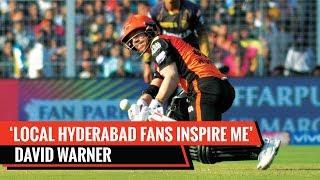David Warner thanks local Hyderabad fans for immense support