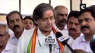 Shashi Tharoor files nomination from Thiruvananthapuram