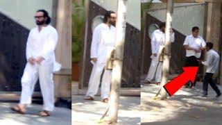 Saif Ali Khan Spotted At Bandra - Watch Video