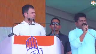 Congress President Rahul Gandhi addresses public meeting in Wanaparthy, Telangana