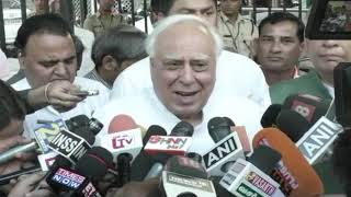 Kapil Sibal addresses media after meeting with EC