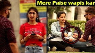 Taking Donation From Cute Girls | Prank with a Twist | Unglibaaz