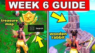 Fortnite ALL Season 8 Week 6 Challenges Guide! Visit a wooden Rabbit, Search where the Knife Points