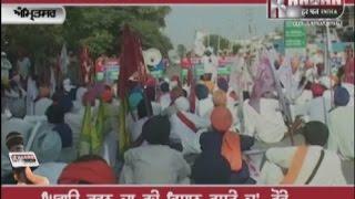 Protest outside cabinet  minister Bikram Singh Majithia house