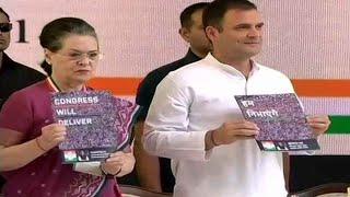2019 Lok Sabha Polls- Rahul Gandhi releases Congress manifesto; promises jobs, separate Kisan budget