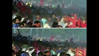 Watch- Chaos at PM Modi's rally in Bihar's Gaya, angry attendees hurl chairs