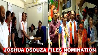 Joshua Dsouza Files Nomination From Mapusa For Bye-Election