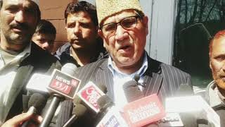 Akbar lone while addressing media slammed congress of dividing people and creating vote bank he furt