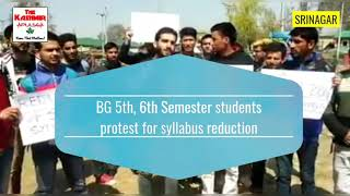 BG 5th 6th Semester students protest for syllabus reduction