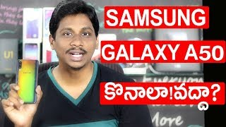 Samsung Galaxy A50 Full Review pros and cons telugu