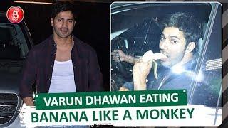 Varun Dhawans FUNNY Banana Eating Video Goes Viral