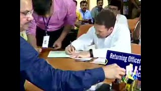 Rahul Gandhi files nomination papers to contest LS elections from Wayanad