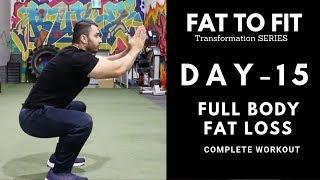 Complete HOME FAT LOSS Workout! Day-15 (Hindi / Punjabi)