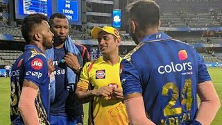 IPL 2019: Watch Ms Dhoni given tips to hardik pandya & Krunal after the finish game | MI vs CSK