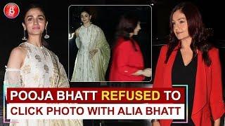 Step Sister Pooja Bhatt Refuses To Get Cicked With Alia Bhatt Alone