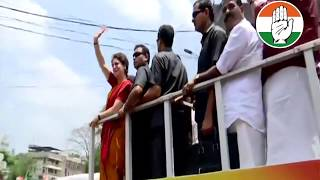 Congress President Rahul Gandhi holds a roadshow in Wayanad after filing nomination
