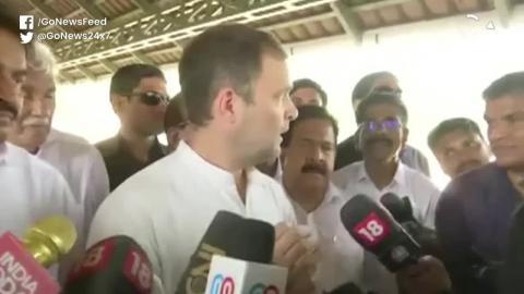 कांग्रेस अध्यक्ष,  राहुलगांधी ने गुरुवार को केरल के वायनाड से अपना नामांकन दाखिल किया।