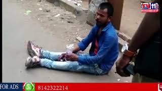 DRUNKEN MAN HUL CHAL IN MEHDIPATNAM AREA HYDERABAD
