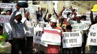 Pani Nahi Too Vote Bhi Nahi | No Vote No Water | Public Protest In Secunderabad Sanikpuri |