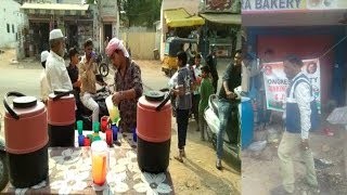 Police Pullouts Congress Banners While The Drinking Water Camp By Congress In pahadishareef.